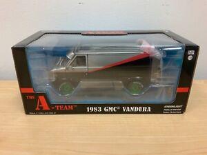 Greenlight Hollywood 1/24 A-Team 1983 GMC Vandura Green Machine Chase MIB Read