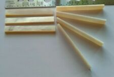 Top Quality Long Piece of Mother of Pearl 85 x 10 x 3 mm For Inlay etc. Saddle