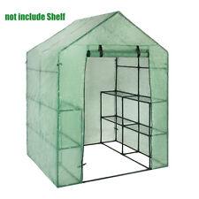 Portable 3-Tier Walk In Greenhouse 6 Shelves PE Cover Plant Garden Green House
