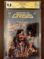 Heroes in Crisis 1 CGC 9.8 2XSS DC Boutique Gold Foil Signed Tom King, Clay Mann