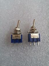 1 x PAIR - 2 Way Toggle Switch (ON / OFF or ON) Single Pole Single Throw (SPST)