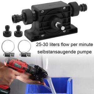 Bohrmaschine Selbstansaugende Transferpumpe Öl Wasser Flüssigkeit Bohrpumpe Set