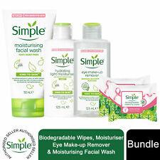 Simple Bundle of Bio wipes, Eye Make-up Remover, Face wash & Light Moisturiser