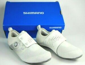Shimano SH-IC500 Women's Indoor Cycling Shoes SIZE EU 39 US 7.2 White EUC