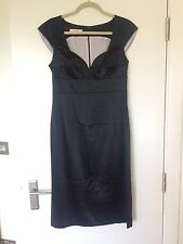Laurel Black Satin Dress Size 36 uk size 8