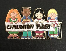 Vintage Children First Teacher Pin