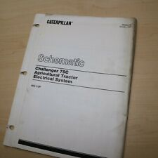 Caterpillar Challenger 75c Tractor Electrical Schematic manual shop repair guide