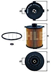 MAHLE Oil Filter For VOLVO S60 II III S80 S90 V40 V60 V70 V90 Xc40 31372214