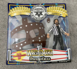 WWF WWE WRESTLEMANIA REF MICK FOLEY & MANKIND MASK SET BNIB Jakks Mattel