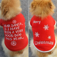 Pet Dog Christmas Jumper Coat Santa Clothes Puppy Sweater Apparel Costume Outfit