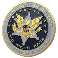 United States MARSHAL / Department of Justice 24kt GP Challenge coin 1160#