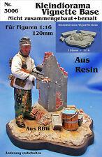 Diorama Neu Nr.3006 Kleindiorama Vignette Base für Figuren 1:16 - 120mm Resin