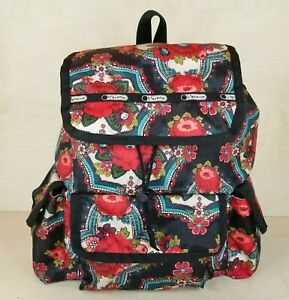 LeSportSac Voyager Backpack Red Floral