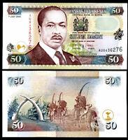KENYA 50 SHILLINGS 1-7-2000 P 36 AUNC