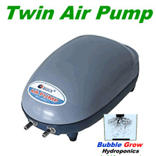 TWIN AIR PUMP 2 X 240L/H 4.5W FOR AQUARIUMS OR HYDROPONICS TWO OUTLETS