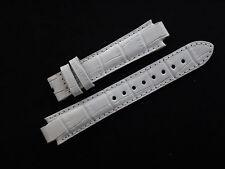 Original White Leather TISSOT TXL Watch Strap Band Ladie's 17mm  New
