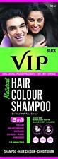 VIP 5 in 1 Hair Colour Shampoo base Hair Color 180 ml Black Hair Colour