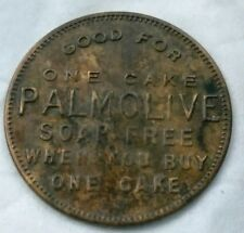 Antique PALMOLIVE TOKEN Good for One Cake Soap Free when Buy One COUPON COIN