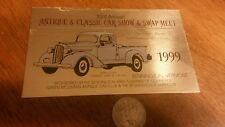 1938 DODGE TRUCK VERMONT AREA  CAR AUTO SHOW BADGE TOPPER EMBLEM LICENSE PLATE