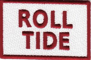 """Alabama Roll Tide 3"""" x 2"""" Iron On Patch *New*"""