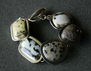 SILPADA - B0617 - Natural Jasper Stone Bracelet Toggle Clasp RARE