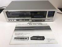 Vintage JVC KD-V33 Single Cassette Deck Player With Instructions