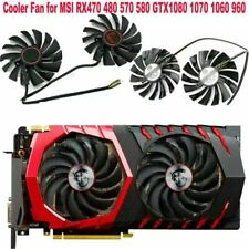 2PCS Cooler Fan for MSI RX470 480 570 580 GTX1080 1070 1060 960 GAMING Card New