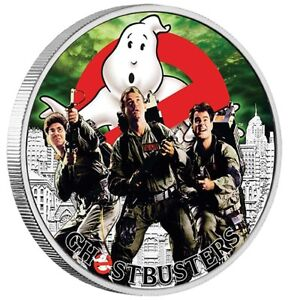 2017 Perth Mint Tuvalu GHOSTBUSTERS CREW 1 oz SIlver Proof $1 Coin