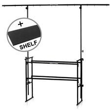 Gorilla 4ft Complete Disco DJ Stand Booth Lighting Equipment Table Rig inc Shelf