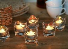 Tealight Candle Holder Clear Glass *NEW * Set of 6 * Free Shipping * Ikea VÄSNAS