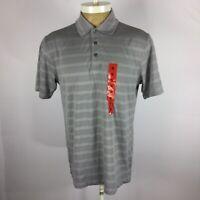 Bolle' Mens Size Medium Light Gray Short Sleeve Performance Polo Shirt. D4