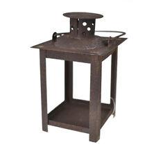 Rustic Hanging Tea Light Lantern, Brown, 4-1/2-Inch