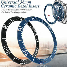 Blue Black Flat Ceramic Bezel Insert for Omega Sei ko SKX007/009 Watches 38mm