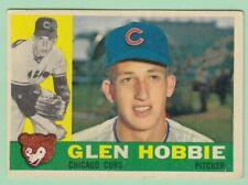 1960 Topps # 182 Glen Hobbie - Chicago Cubs -- Box 722-211