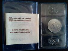 Repubblica italiana argento 500 Lire 1985 Anno degli Etruschi FDC conf. Zecca