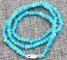 Faceted Myanmar Natural 2x4mm Aquamarine Abacus Gems Necklace 18'' JN959