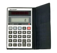 Vtg Sharp Pocket Calculator ELSI MATE EL-326T Solar Cell Calculator Working PC22