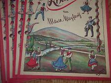 """Carnet de notes""""Un drôle Valse de monts Rhön""""Maria Meyfarth chant Piano"""
