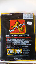 """mustang back protector lumbar xl 43 to 48"""" black support adjustable"""