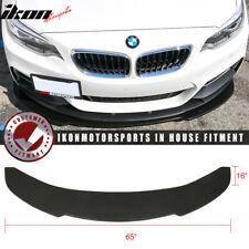 Universal V1 Style 65x16 Inch Front Bumper Lip - Polyurethane (PU)