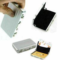 Neu Aluminium Geschäft Identifikation Kreditkarte Halter Kasten Mappen Z4Y5 I4K6