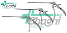 Kerrison Rongeurs 8 Size 1mm 2mm 3mm Up 45 Degree Surgical Instruments 3 Pcs C