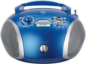 Grundig RCD 1445 Radio (USB 2.0) mit CD/-MP3/ Wiedergabe blau/silber, Ohne OVP