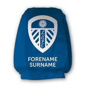 Leeds United F.C - Personalised Car Headrest Covers (MONO CREST)