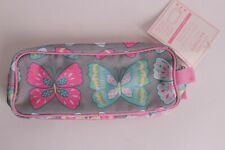 NWT Pottery Barn Kids Mackenzie gray butterfly pencil case