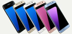 Samsung Galaxy S7 edge SM-G935P 32GB  Blue (Sprint) 9/10 Unlocked Shadow