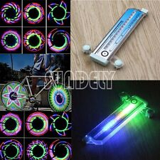 AU 32 Pattern LED Colorful Bicycle Wheel Tire Spoke Signal Light For Bike Safety