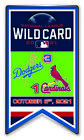 2021 WILD CARD DUELING PIN L.A.DODGERS VS. ST. LOUIS CARDINALS MLB WORLD SERIES