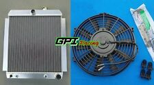 """Aluminum Radiator & 16"""" FAN FOR 1948-1954 Chevy Pickup Truck AT/MT 49 50 51 52"""