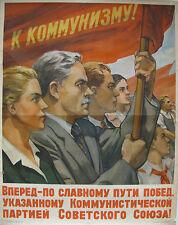 Vintage Soviet Russian Poster, 1953, very rare, 100% original